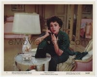 5x019 RHAPSODY color 8x10 still #4 1954 cool image of pretty Elizabeth Taylor on phone!