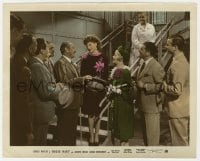 5x020 ROXIE HART color-glos 8x10 still 1942 Adolphe Menjou & crowd smile at Ginger Rogers on stairs!