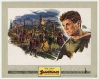 5x022 SPARTACUS color 8x10 still 1960 wonderful art of Tony Curtis as Antoninus, Stanley Kubrick