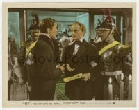 5x024 SUEZ color-glos 8x10 still 1938 Tyrone Power & Joseph Schildkraut with armored guards!