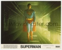 5x025 SUPERMAN 8x10 mini LC #6 1978 great c/u of Christopher Reeve in costume approaching camera!