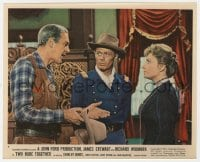 5x027 TWO RODE TOGETHER color 8x10 still #4 1961 Richard Widmark, James Stewart & Shirley Jones!