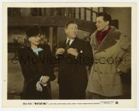 5x028 WINTERTIME color-glos 8x10.25 still 1943 Sonja Henie smiles at Jack Oakie & Cornel Wilde!