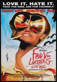 5y021 FEAR & LOATHING IN LAS VEGAS Dutch 1998 trippy art of Depp as Dr. Hunter S. Thompson!
