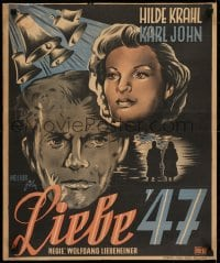 5y024 LOVE 47 Dutch 1947 Wolfgang Liebeneiner's Liebe '47, art of pretty Hilde Krahl!