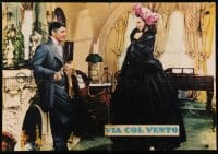 5y834 GONE WITH THE WIND group of 2 Italian 27x39 pbustas R1960s Clark Gable, Leigh, different!