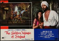 5y831 GOLDEN VOYAGE OF SINBAD Italian 18x26 pbusta 1974 Ray Harryhausen, John Philip Law!