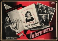 5y830 INTERMEZZO group of 2 Italian 19x27 pbustas R1958 Ingrid Bergman is in love with Howard!