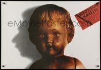 5y801 SUNDAY PRANKS Polish 26x38 1987 Lech Majewski art of cherub statue!