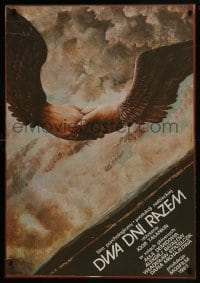 5y809 VREMYA OTDYKHA S SUBBOTY DO PONEDELNIKA Polish 27x38 1985 Oblucki art of winged hand shake!