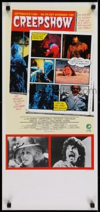 5y013 CREEPSHOW Swedish stolpe 1982 George Romero & Stephen King's tribute to E.C. Comics!