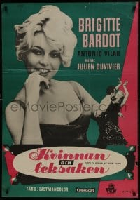 5y012 WOMAN LIKE SATAN Swedish 1959 three great images of sexy Brigitte Bardot, rare!