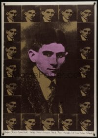 5z002 FRANZ KAFKA 34x47 Dutch commercial poster 1980s many different image of him, silkscreen!