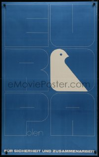 5z022 EUROPA POLEN Polish 29x47 1973 German language, Hubert Hilscher art of dove in title!