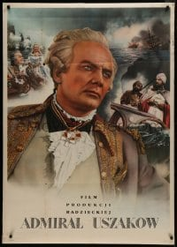 5z004 ADMIRAL USHAKOV export Russian 34x47 1964 Mikhail Romm, Ivan Pereverzev in the title role!