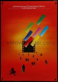 5z038 BERLIN INTERNATIONAL FILM FESTIVAL 33x47 German film festival poster 1988 great design!