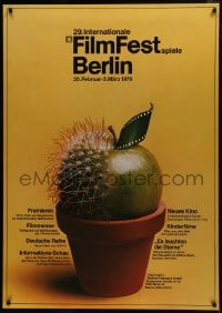 5z029 BERLIN INTERNATIONAL FILM FESTIVAL 33x47 German film festival poster 1979 great design!