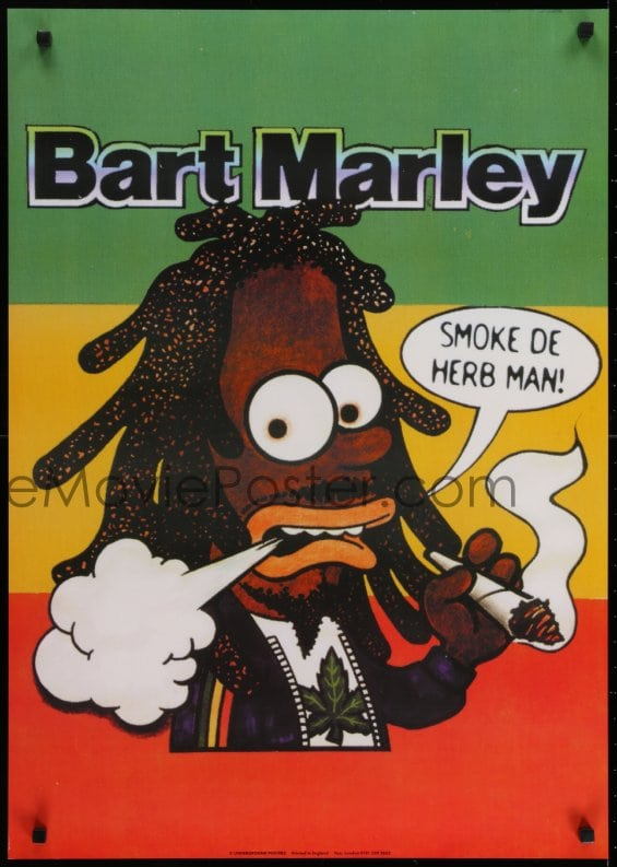 EMoviePoster 60z60 BART MARLEY 60x60 English Commercial Poster Cool Bob Marley Smoking Wild