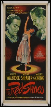 6a065 RED SHOES linen Aust daybill 1948 Michael Powell & Emeric Pressburger, art of Moira Shearer!