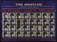 6c374 HARD DAY'S NIGHT British quad 1964 Beatles 1st movie, Richard Lester, rare country of origin!