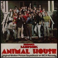 6c009 ANIMAL HOUSE 36x36 music store poster 1978 John Belushi & cast giving the finger, very rare!