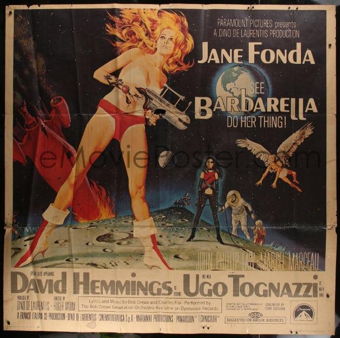 eMoviePoster com: 6g047 BARBARELLA 6sh 1968 sexiest sci-fi art of