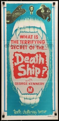 6k590 DEATH SHIP Aust daybill R1980s those who survive are better off dead different stock design