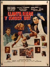 6k160 LLANTO RISAS Y NOCAUT Mexican poster 1974 Tears, Laughter and a Knockout, Julio Adama!