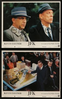 6k113 JFK 10 French LCs 1991 Oliver Stone, Kevin Costner, Kevin Bacon, Tommy Lee Jones