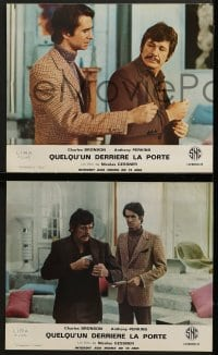6k130 SOMEONE BEHIND THE DOOR 16 French LCs 1971 Charles Bronson, Jill Ireland, Anthony Perkins!