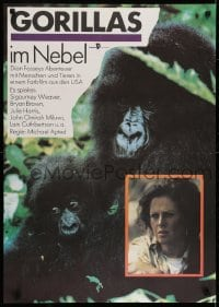6p316 GORILLAS IN THE MIST East German 23x32 1990 image of Sigourney Weaver as Dian Fossey!