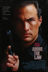 6r013 ABOVE THE LAW 1sh 1988 Sharon Stone, Pam Grier, great close-up image of Steven Seagal!