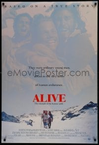6r025 ALIVE DS 1sh 1993 Ethan Hawke, Vincent Spano, based on a true story!