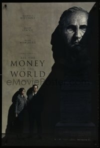 6r028 ALL THE MONEY IN THE WORLD recalled teaser DS 1sh 2017 Ridley Scott, Kevin Spacey credited!