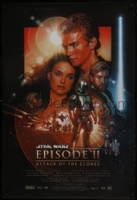 6r042 ATTACK OF THE CLONES style B 1sh 2002 Star Wars Episode II, artwork by Drew Struzan!