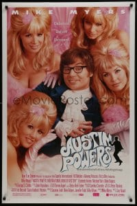 6r044 AUSTIN POWERS: INT'L MAN OF MYSTERY style B DS 1sh 1997 spy Mike Myers & sexy fembots!