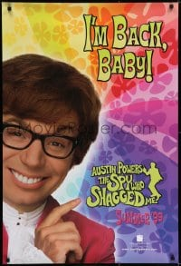 6r047 AUSTIN POWERS: THE SPY WHO SHAGGED ME teaser 1sh 1997 Myers in title role as Austin Powers!