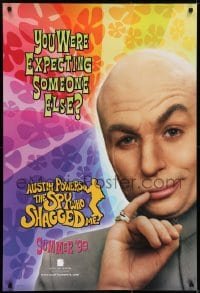 6r046 AUSTIN POWERS: THE SPY WHO SHAGGED ME teaser 1sh 1997 Mike Myers as Dr. Evil!