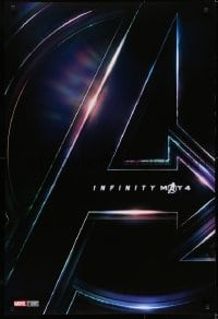 6r050 AVENGERS: INFINITY WAR teaser DS 1sh 2018 Robert Downey Jr., Pratt, Evans, cool title!