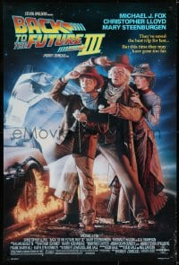 6r057 BACK TO THE FUTURE III DS 1sh 1990 Michael J. Fox, Chris Lloyd, Drew Struzan art!