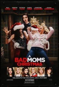 6r059 BAD MOMS CHRISTMAS teaser DS 1sh 2018 Kunis, Bell, Hahn, celebrate the holidays like a mother!