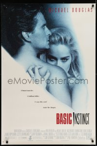 6r061 BASIC INSTINCT DS 1sh 1992 Paul Verhoeven directed, Michael Douglas & sexy Sharon Stone!