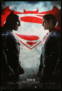 6r078 BATMAN V SUPERMAN teaser DS 1sh 2016 Ben Affleck and Henry Cavill in title roles facing off!