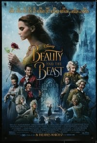6r084 BEAUTY & THE BEAST advance DS 1sh 2017 Walt Disney, Emma Watson, Dan Stevens and top cast!