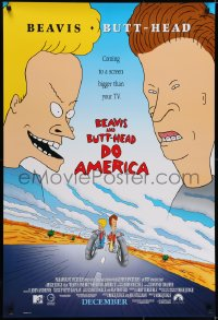 6r088 BEAVIS & BUTT-HEAD DO AMERICA int'l advance 1sh 1996 Mike Judge MTV delinquent cartoon!