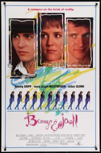 6r093 BENNY & JOON 1sh 1993 Johnny Depp, Mary Stuart Masterson, Quinn, romance on the brink!