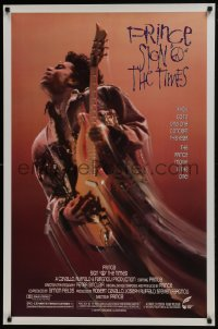 6r803 SIGN 'O' THE TIMES 1sh 1987 rock and roll concert, great image of Prince w/guitar!