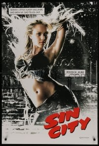 6r806 SIN CITY teaser DS 1sh 2005 Frank Miller comic, color image of sexy Jessica Alba as Nancy!