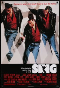 6r807 SING 1sh 1989 Lorraine Bracco teaches teen high school punks how to sing!