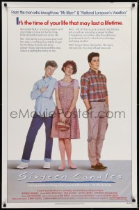 6r809 SIXTEEN CANDLES 1sh 1984 Molly Ringwald, Anthony Michael Hall, directed by John Hughes!